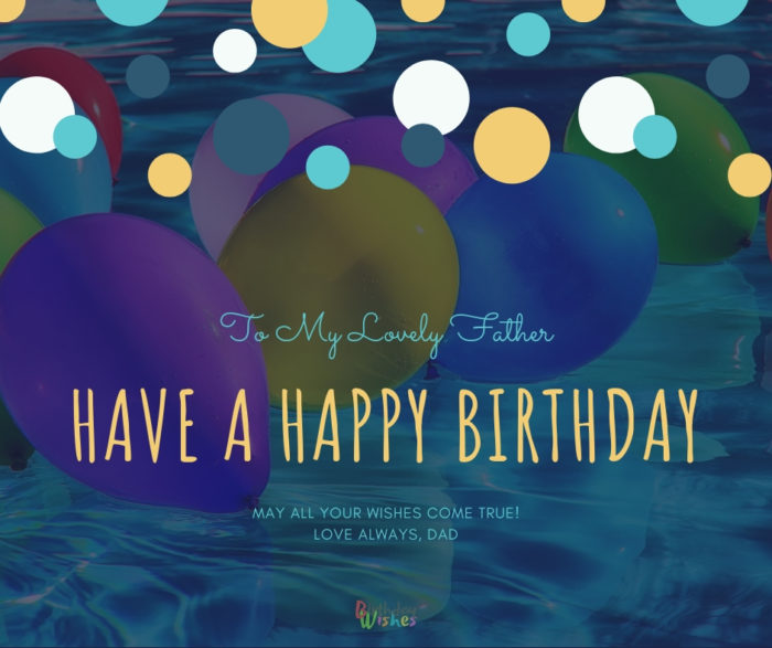 sweet birthday wishes for father with beautiful images