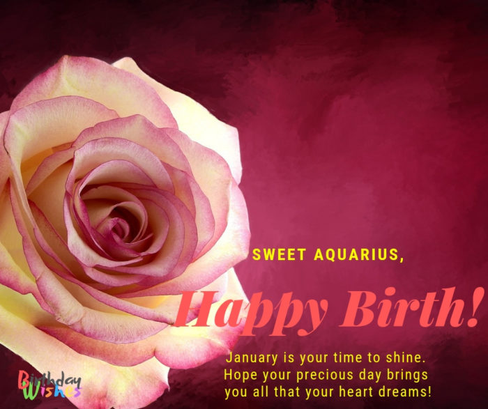 Sweet Aquarius Hope your precious day brings you all that your heart dreams