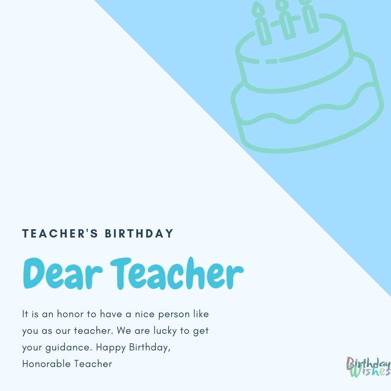 honorable teachers birthday